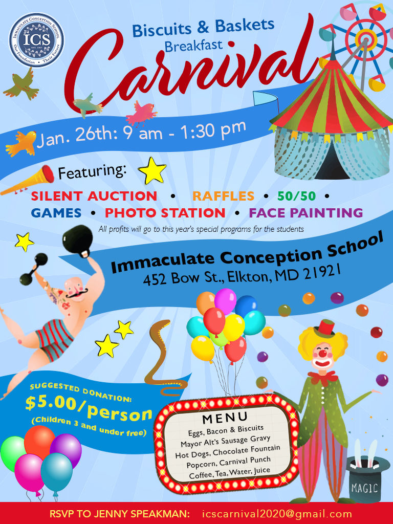 Biscuits & Baskets Breakfast -- Carnival at Immaculate Conception School