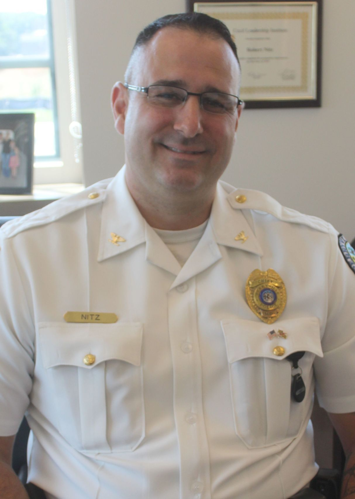 Chief Robert Nitz plans to continue community policing in Perryville