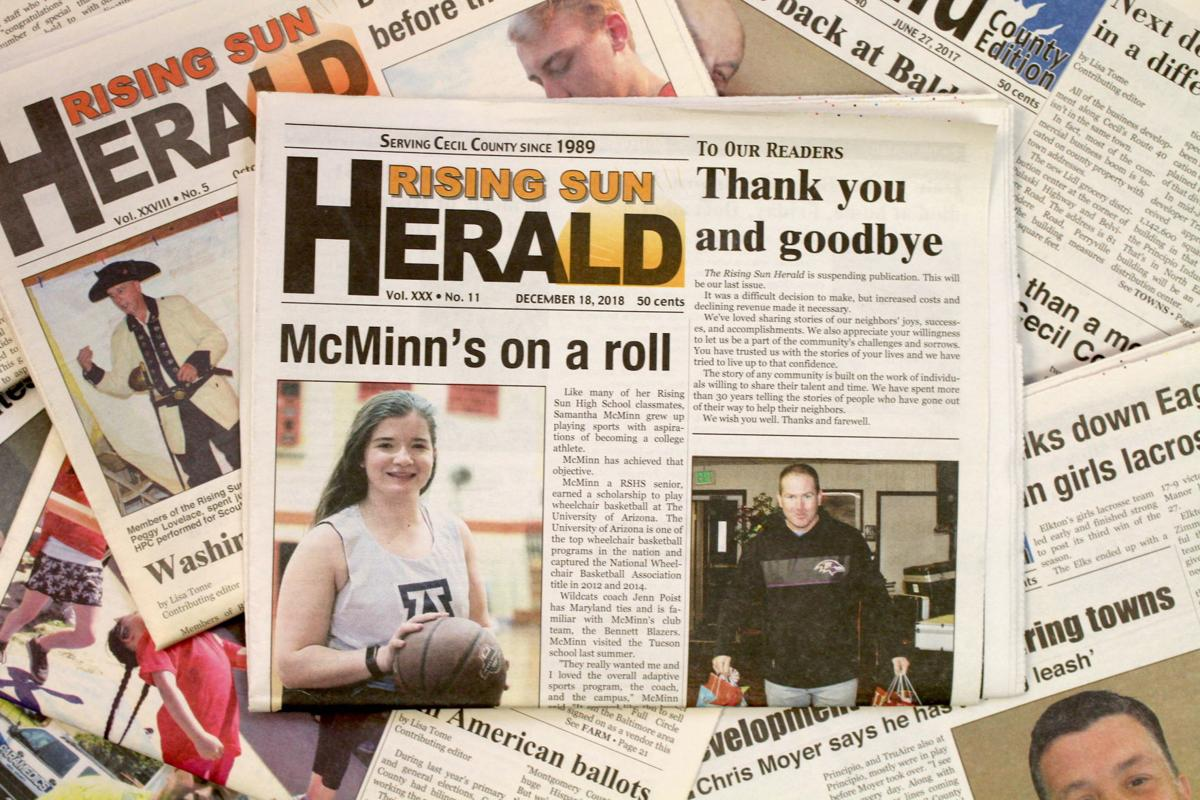 Rising Sun Herald prints last issue after 29 years