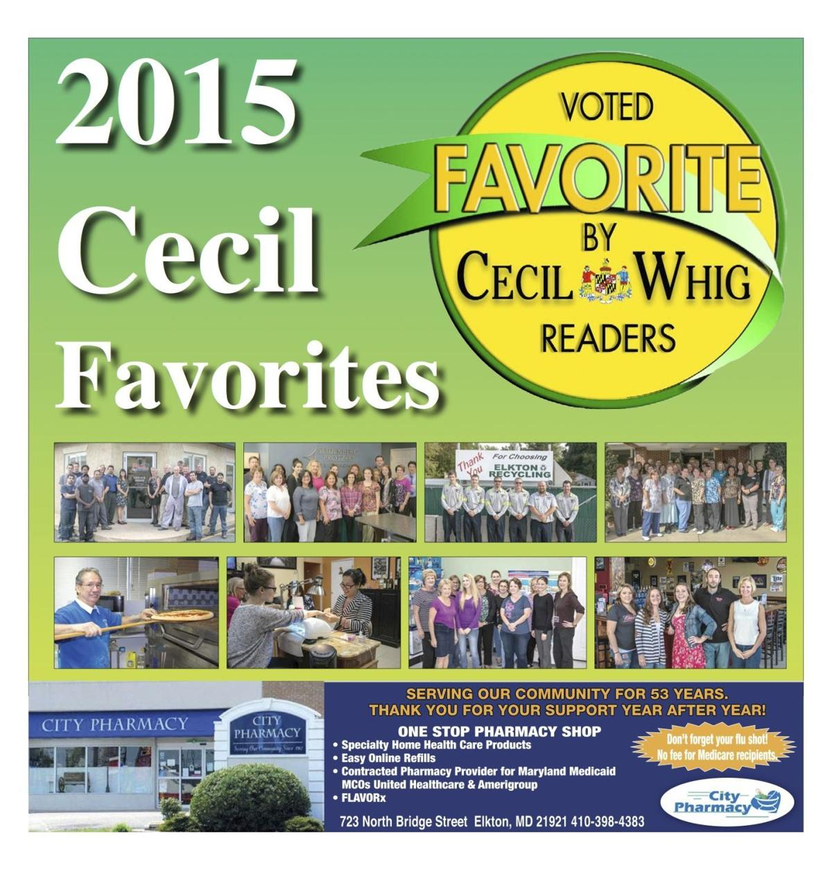 Cecil Favorites cover 2015