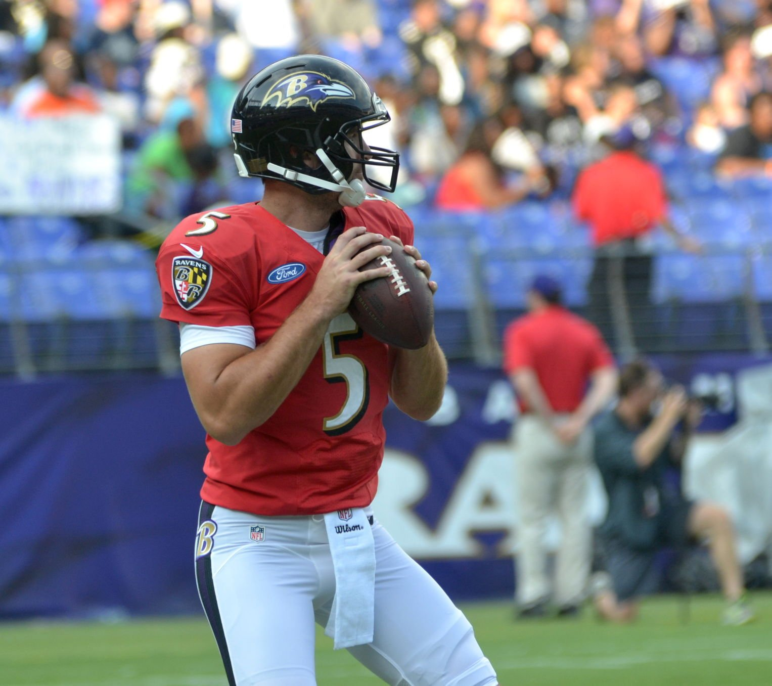 Ravens QB Joe Flacco misses practice with shoulder issue ...