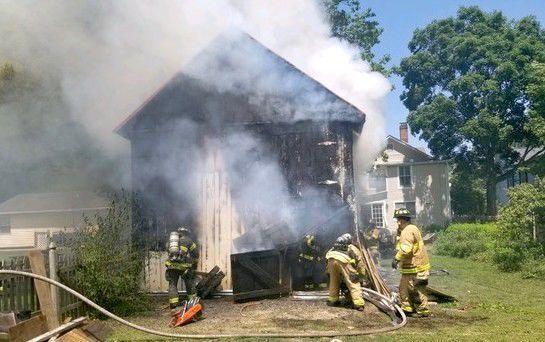 Historic building fire