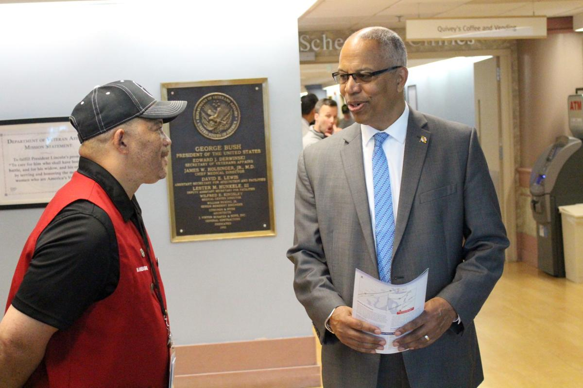 Rutherford visits Perry Pt.