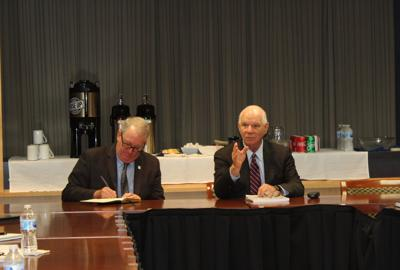 Sen. Cardin talks trade, training, transportation during meeting at Chesapeake College