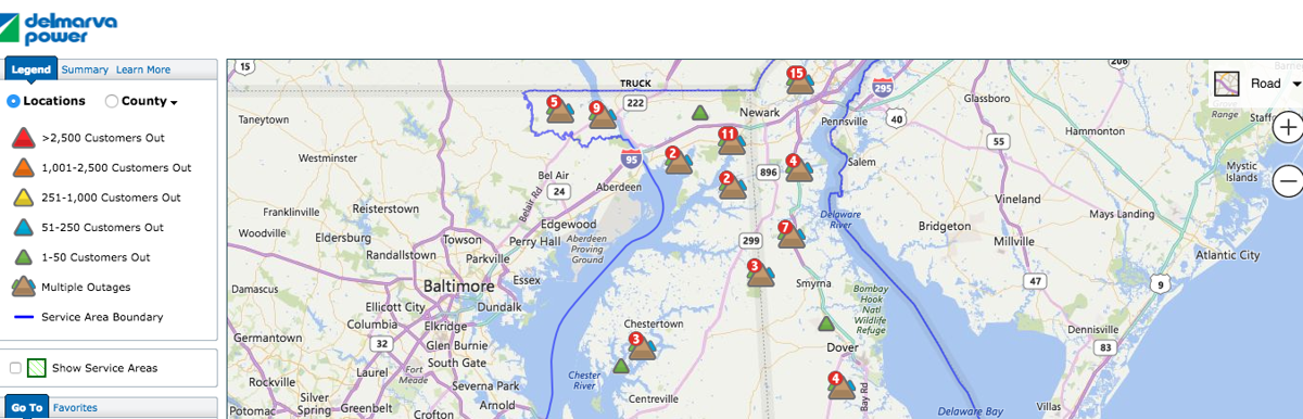 Delmarva Power, Choptank Electric dealing with power outages ... on