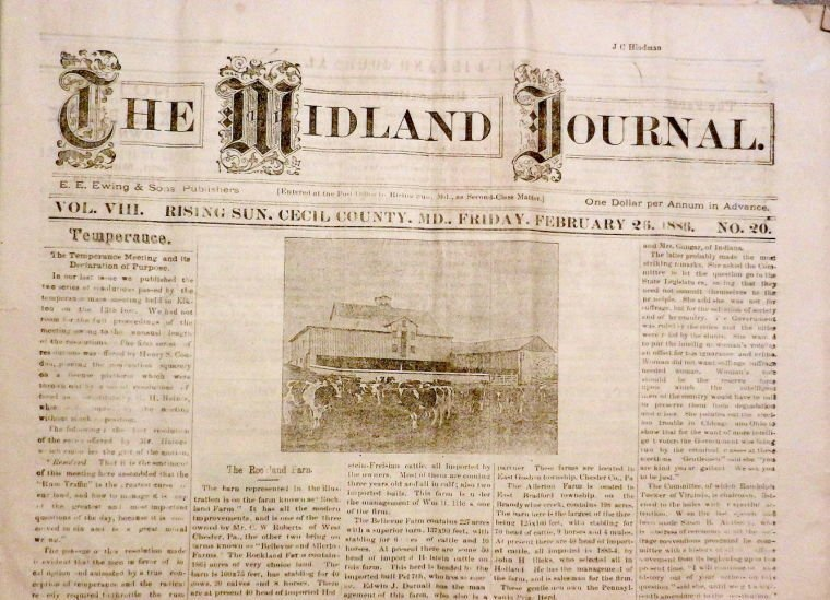 Ask the Historical Society: Midland Journal   Our Cecil