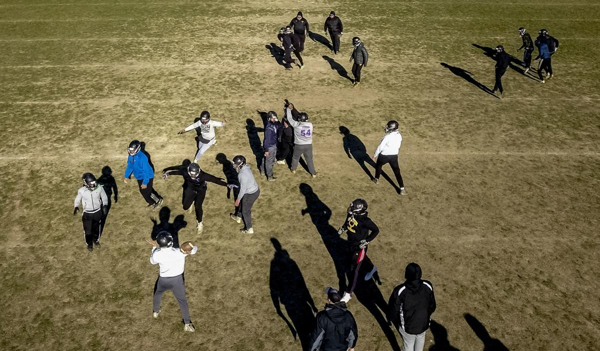 Elkton football's Thanksgiving Day practice