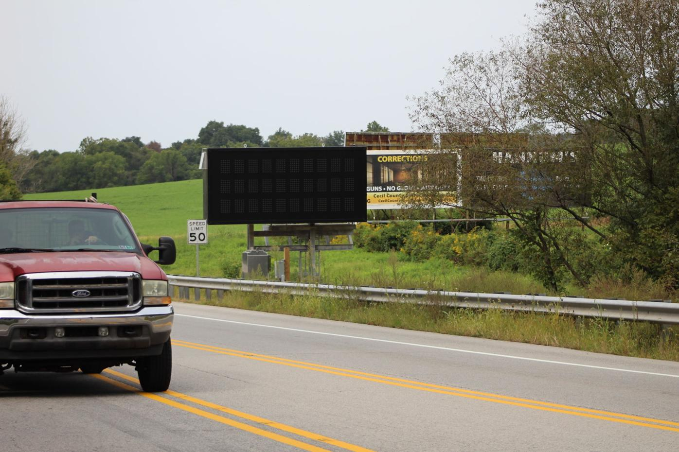 New lighted signs warn, inform drivers in western Cecil County