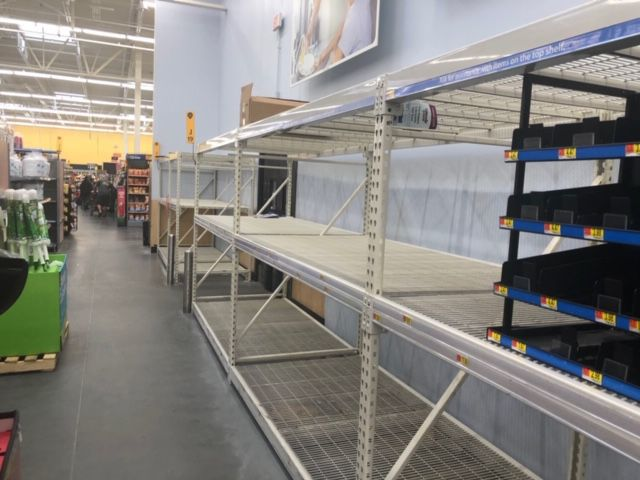 Department stores scramble to keep shelves full