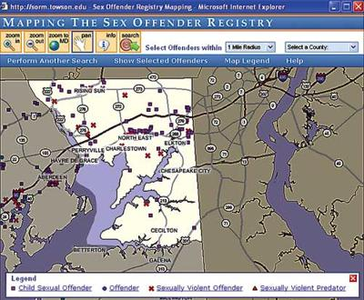 offender registry*120 offenders are registered in ... on