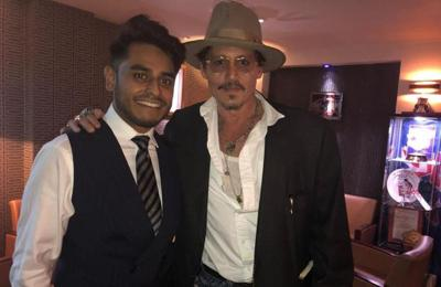 Johnny Depp and Keith Richards enjoy a Ruby Thursday at Indian restaurant