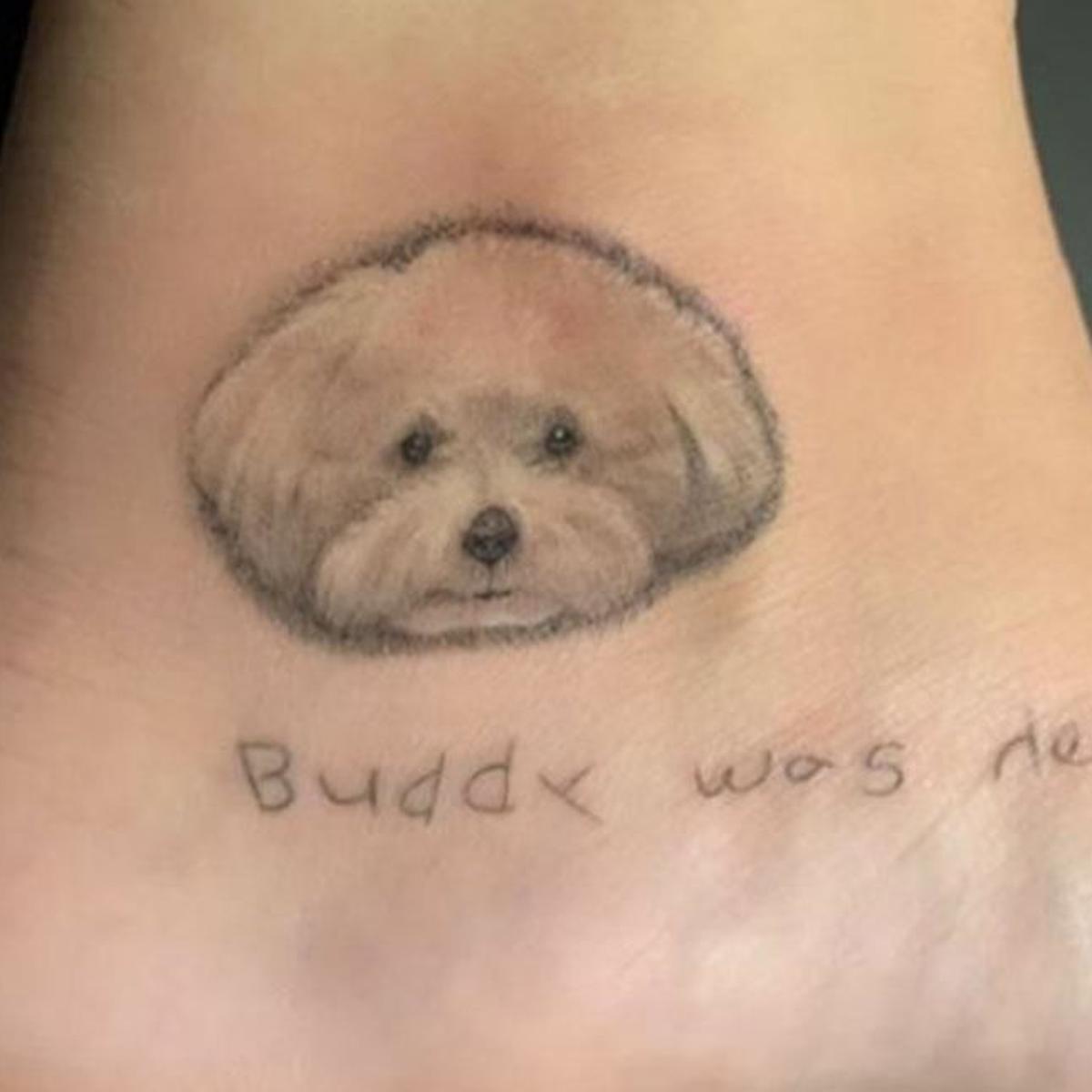 Demi Lovato S Tattoo Tribute To Dog Buddy Celebrities Celebretainment Com