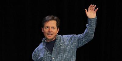 Michael J Fox laughs at disease