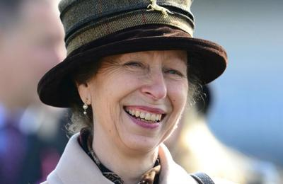 Princess Anne loves chatting to her pigs