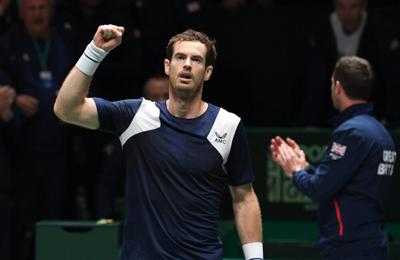 Andy Murray tests positive for coronavirus