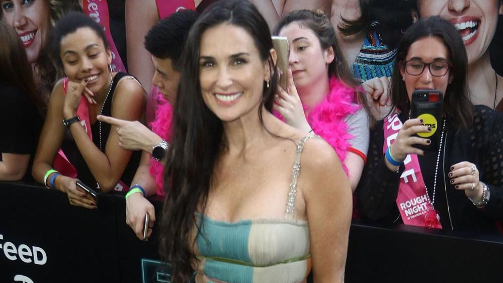 Demi Moore jokes about...