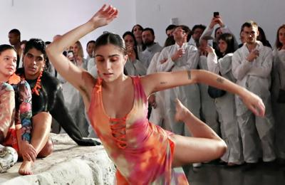 Madonna's daughter Lourdes strips off for artistic fashion show
