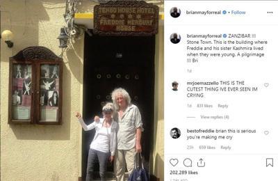 Brian May makes 'pilgrimage' to Freddie Mercury's childhood home
