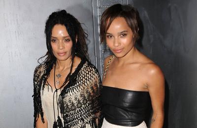 Zoe Kravitz and mum Lisa Bonet swap beauty products