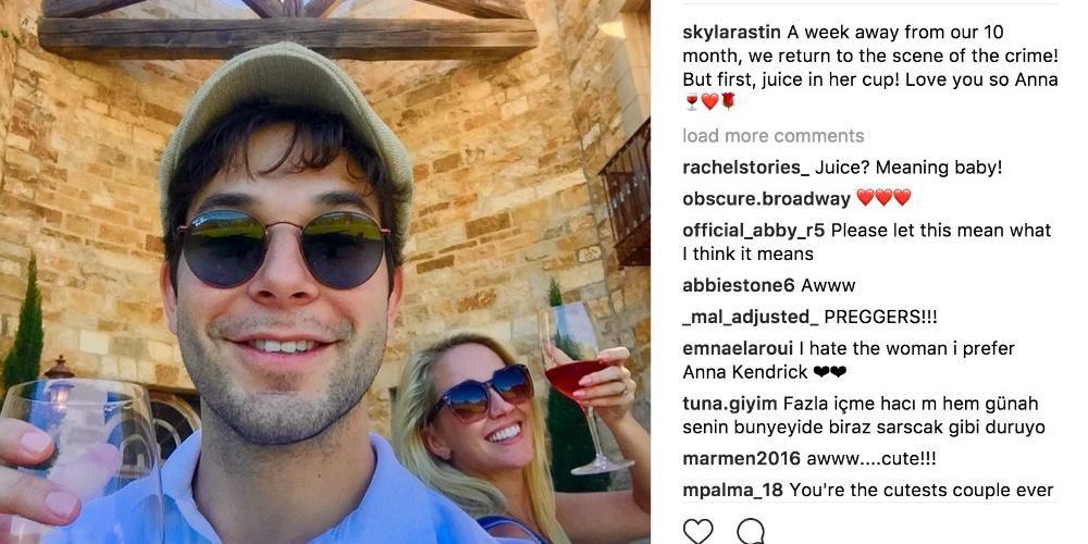 Skylar Astin And Anna Camp Return To Wedding Venue For 10