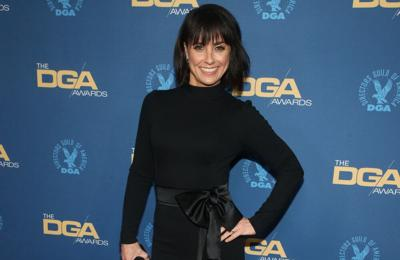 Unreal star Constance Zimmer has a lucky four-leaf clover