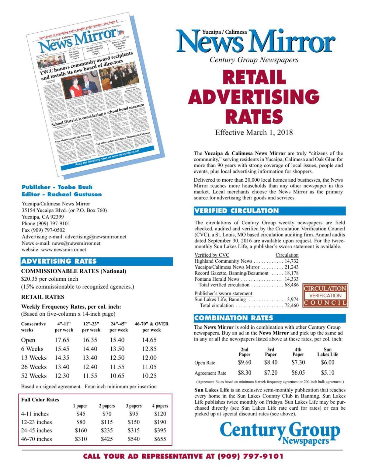 News Mirror - Retail Rates