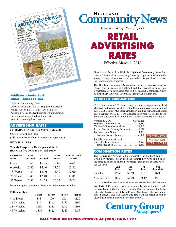 Community News - Retail Rates