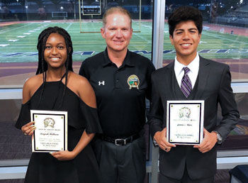 Chino High School's Daijah Williams (left) and James Nuci (right)