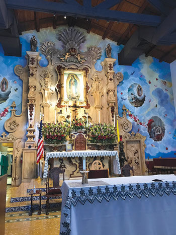 The altar at Our Lady of Guadalupe Catholic Church