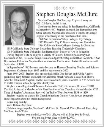 Stephen Douglas McClure