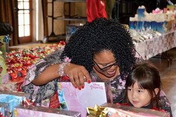 Lesah Handford helps Erica Kawakami