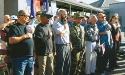 Pledge of Allegiance at the first Veterans Recognition Ceremony