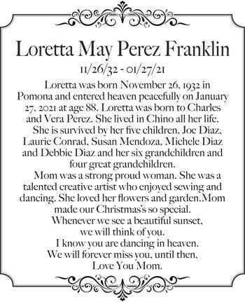 Loretta May Perez Franklin