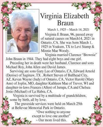 Virginia Elizabeth Braun