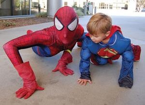 Nathan Miller and Spiderman