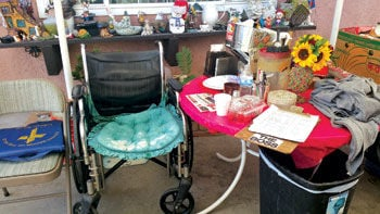 Wheelchair of the late Judy Rogers