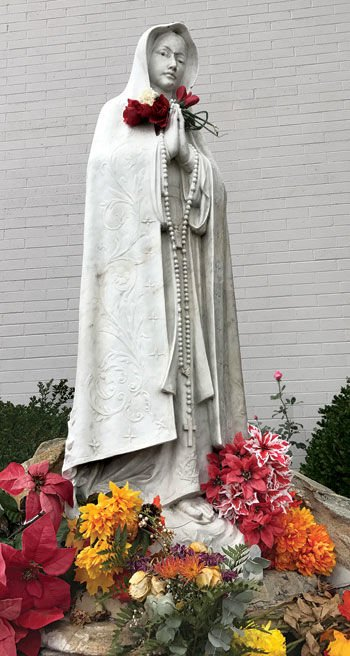 The statue of the Virgin Mary