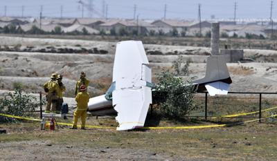 Small plane en route to Chino Airport crash lands on Ontario dairy property