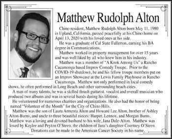 Matthew Rudolph Alton