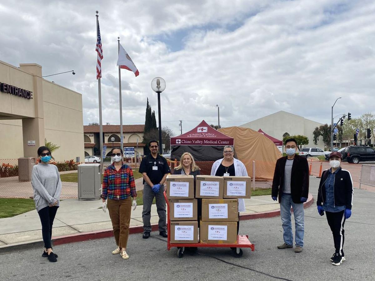Donations of PPE equipment made to Chino Valley Medical Center