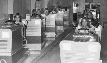 Simulators in Driver's Ed at Chino High in the 1970s.