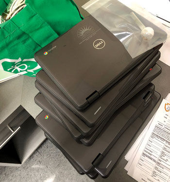Stolen laptops from school recovered during traffic stop