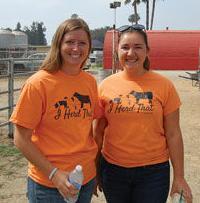 Ashley Cureton (left) and Alyssa Berry