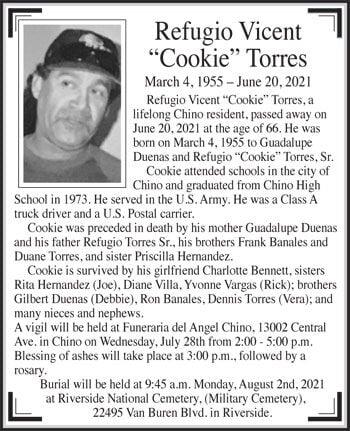 "Refugio Vicent ""Cookie"" Torres"
