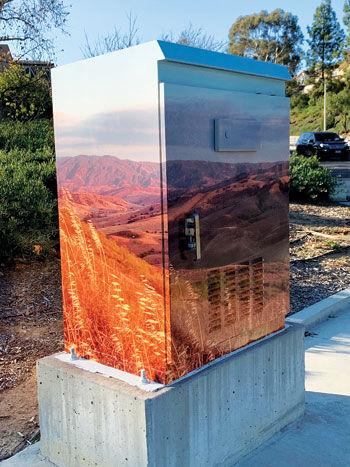 Hilltop views cover a utility box