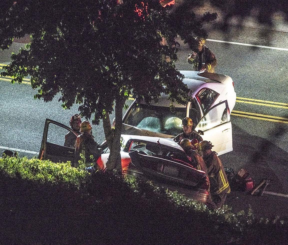 Three People Hurt In Two Car Crash On Carbon Canyon Road In Chino