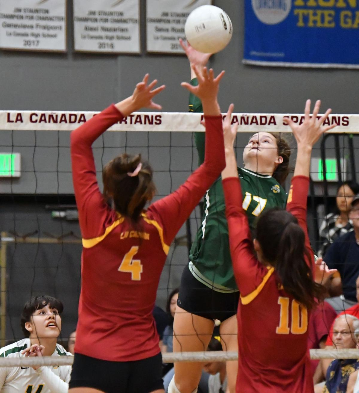 PHOTOS: Ontario Christian High volleyball defeats La Canada in CIF-Southern Section Div. 3 second-round game