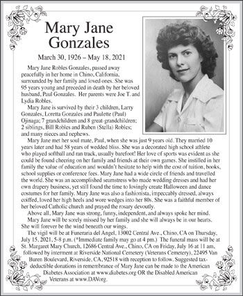 Mary Jane Gonzales