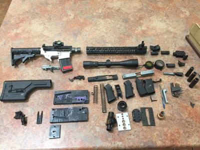 Pomona man arrested in Chino after 'ghost gun' with assault rifle parts found in backpack
