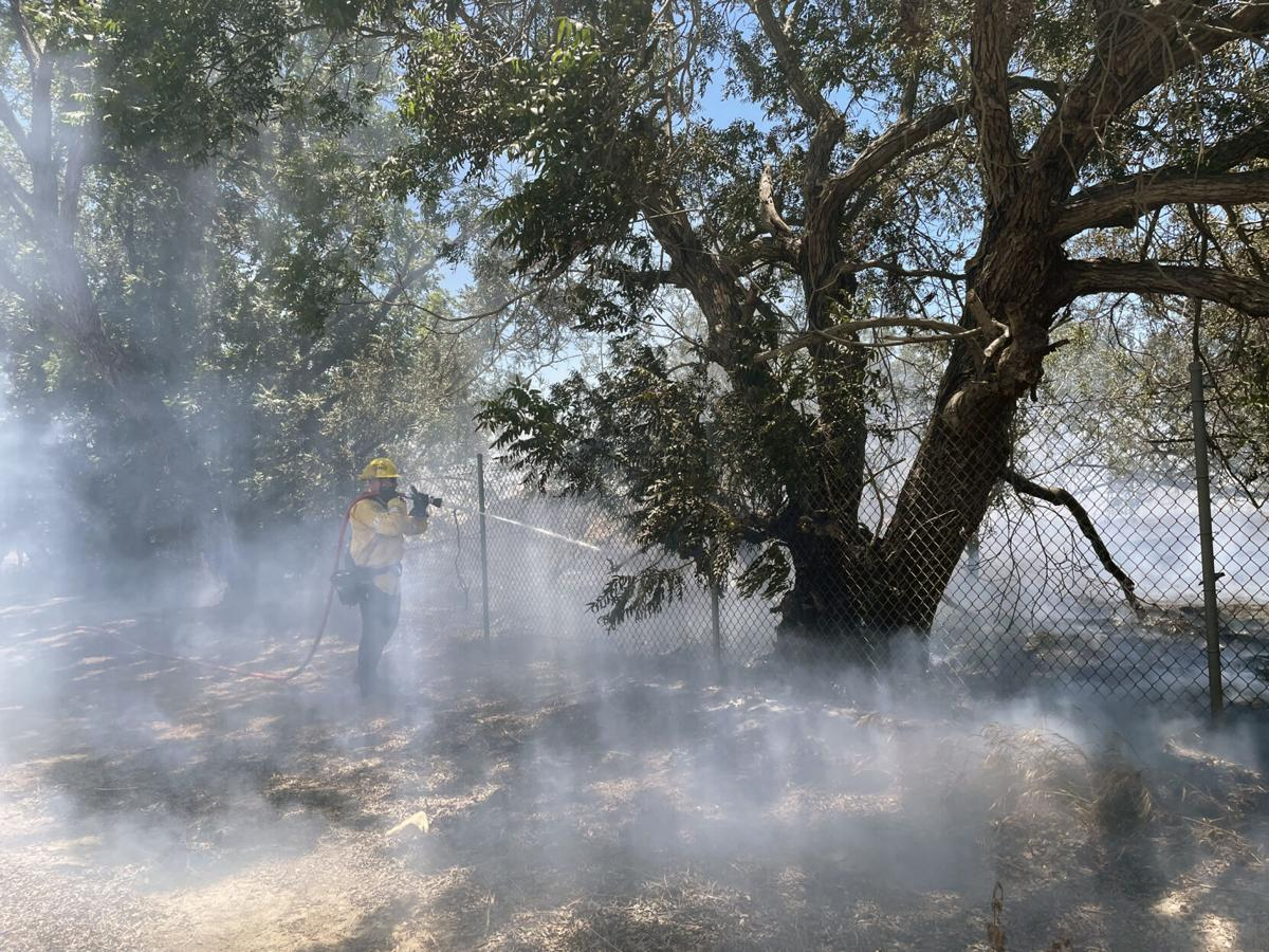 Brush fire scorches half-acre in open field near Riverside Terrace in Chino